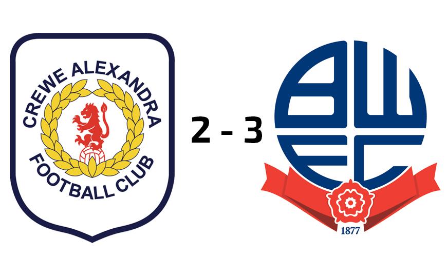 Crewe Alexandra U18s 2-3 Bolton Wanderers U18s