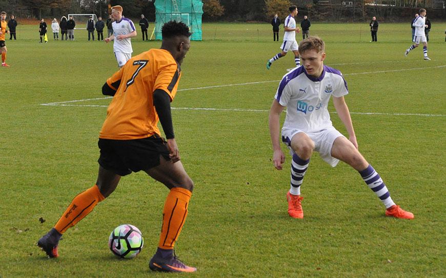 Wolverhampton Wanderers U18s 1-2 Newcastle Utd U18s