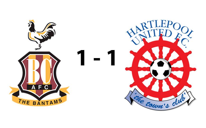 Bradford City U18s 1 - 1 Hartlepool United U18s