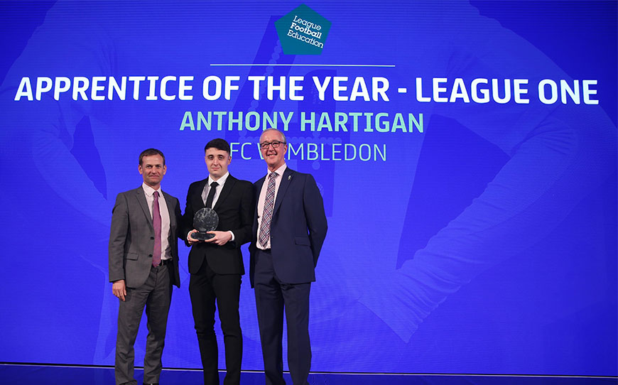 Anthony Hartigan Claims LFE League One Apprentice of the Year Award