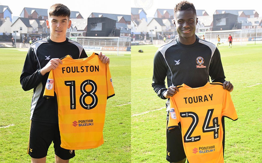 Newport Sign Pair of Apprentices to Pro Contracts