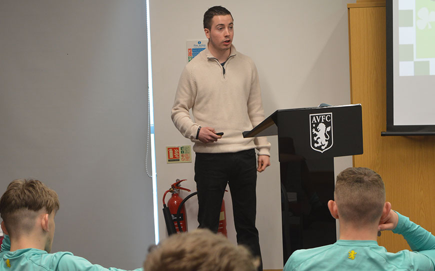 Aston Villa Apprentices Learn That Anything Is Possible From Charlie Fogarty MBE
