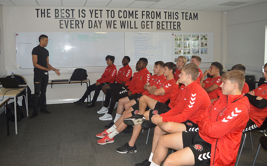 Thomas Delivers Talent Transfer Talk To Fleetwood Apprentices