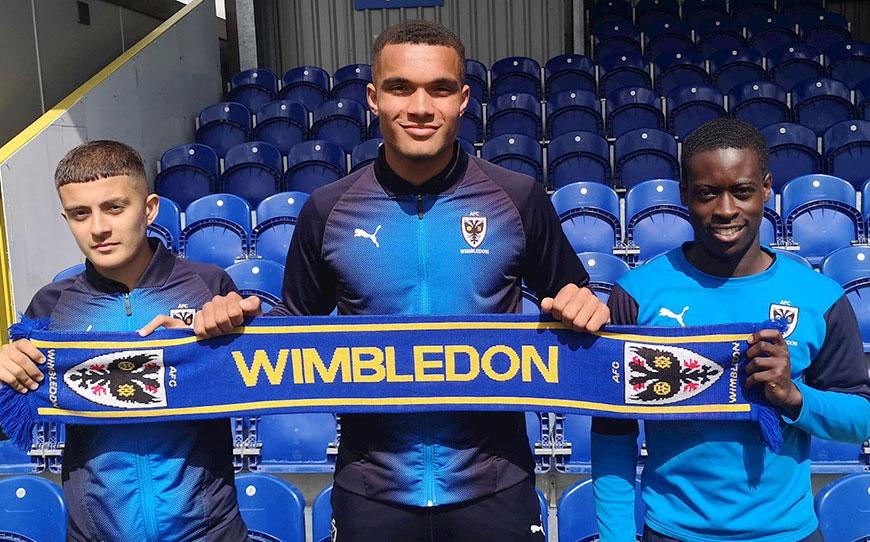 Three AFC Wimbledon Starlets Turn Pro