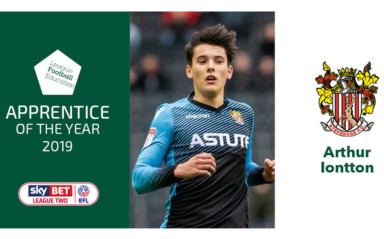 Arthur Iontton - LFE League Two Apprentice of the Year 2019