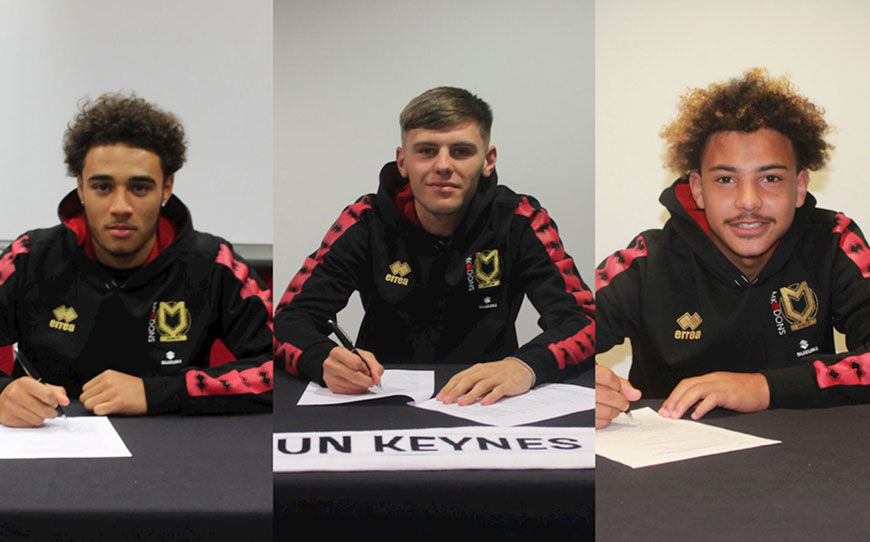 MK Dons Agree Pro Deals With Academy Trio
