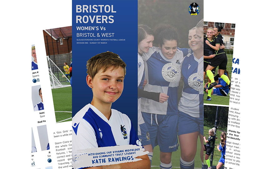 Bristol Rovers BTEC Student Rawlings Features In Matchday Programme