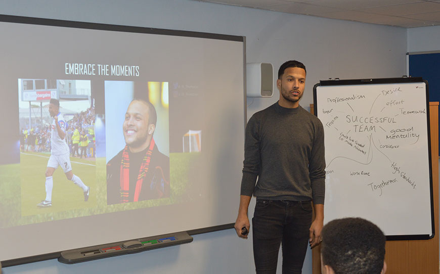 Thompson Tells His Inspirational Story To LFE Apprentices