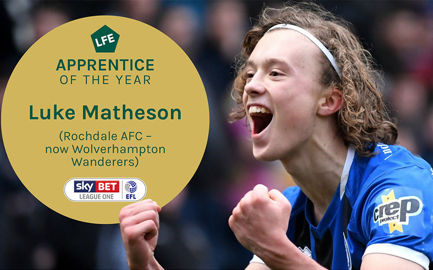 Luke Matheson | LFE League One Apprentice of the Year 2020