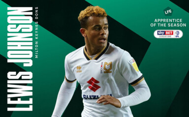 Lewis Johnson | LFE League One Apprentice of the Season 2021