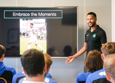 Thompson Returns To Dale To Inspire Youngsters